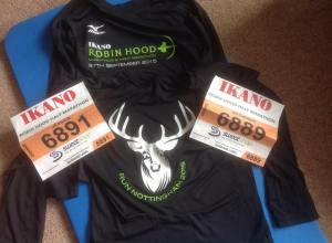 Eek -race numbers and shirts - nice to get long sleeved Ts
