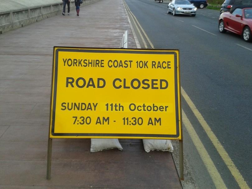 Road closed scarborough