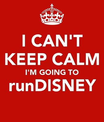 Keep calm run disney